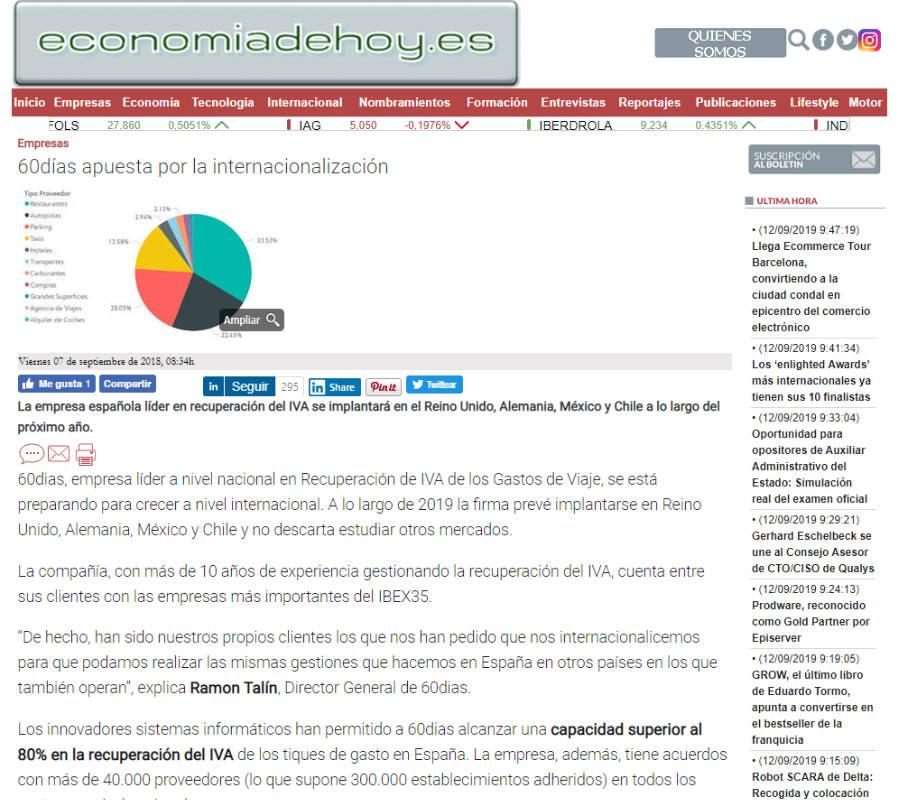 Web Economia de Hoy