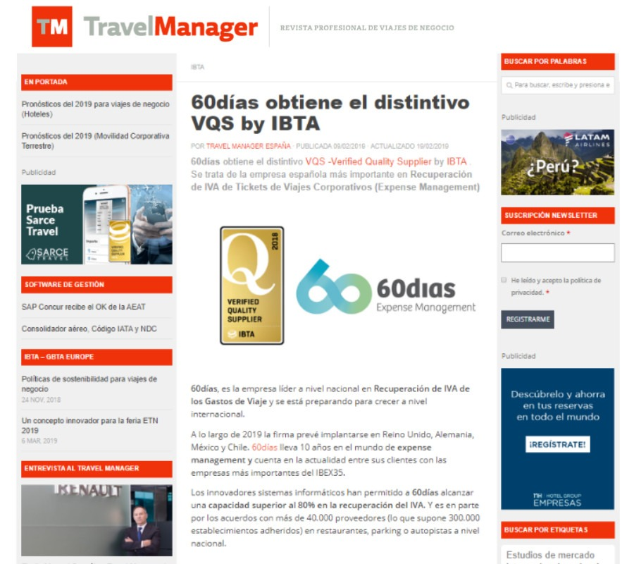Travel manager Web